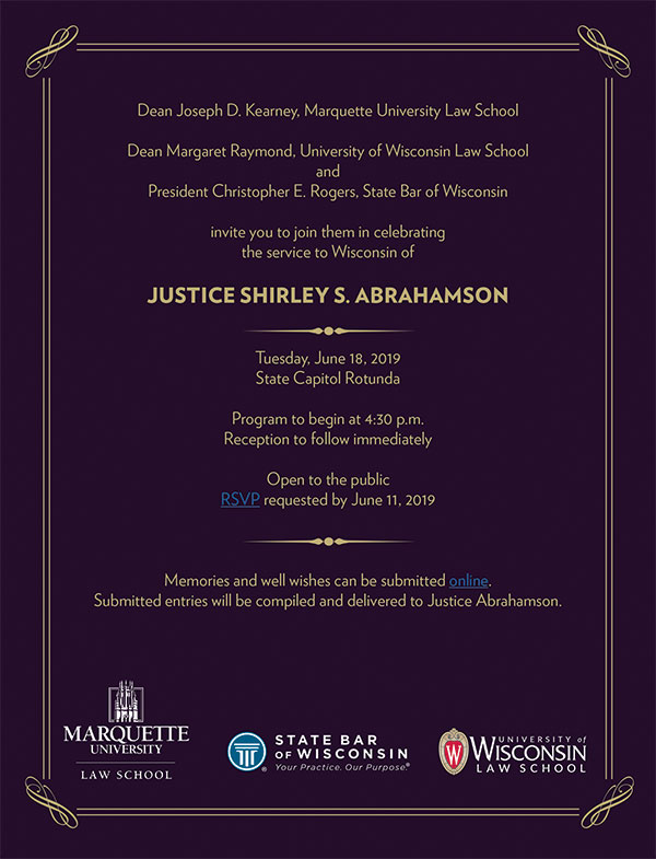 RSVP for Abrahamson celebration